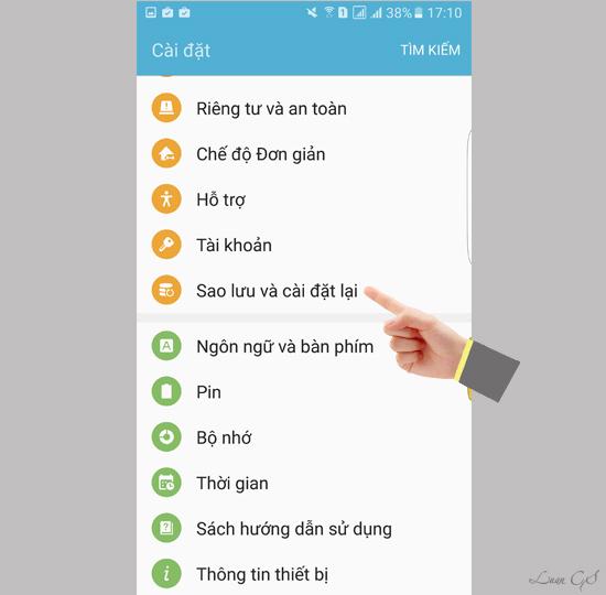 khoi phuc cai dat goc dien thoai 1 1 - Hướng dẫn khôi phục cài đặt gốc cho điện thoại SamSung Galaxy S7