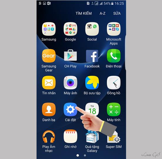 khoi phuc cai dat goc dien thoai 5 1 - Hướng dẫn khôi phục cài đặt gốc cho điện thoại SamSung Galaxy S7