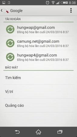 thay tai khoan google trong may 1 - Cách đăng xuất tài khoản google mặc định trong điện thoại Android