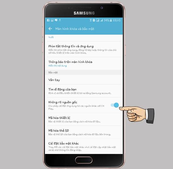 ung dung khong ro nguon goc 2 1 - Hướng dẫn cài đặt ứng dụng không rõ nguồn gốc trên Samsung