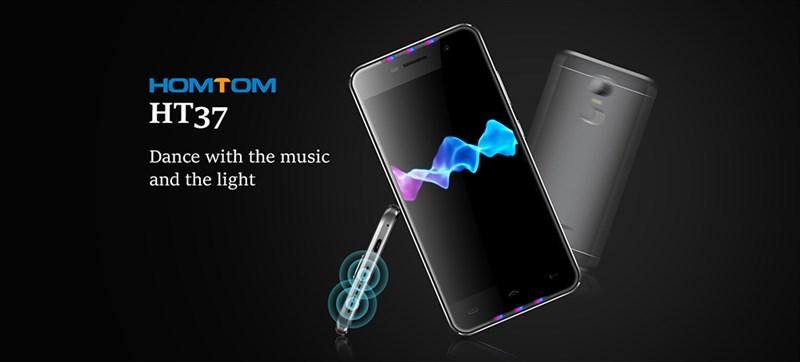 dien thoai homtom ht37 1 - Homtom HT37: Smartphone giá rẻ trang bị chip âm thanh ấn tượng
