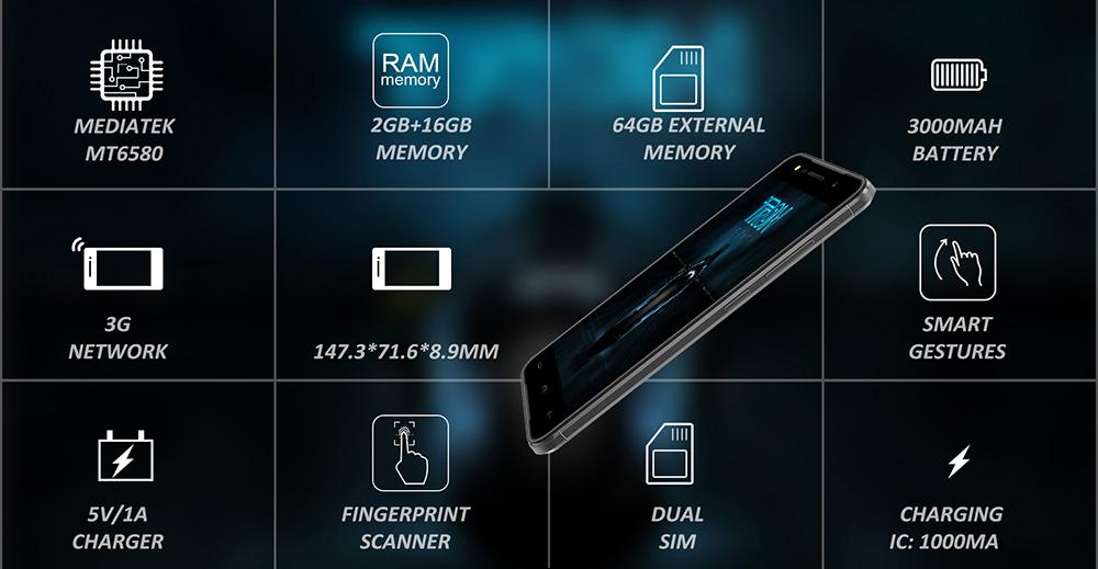 dien thoai homtom ht37 2 1 - Homtom HT37: Smartphone giá rẻ trang bị chip âm thanh ấn tượng