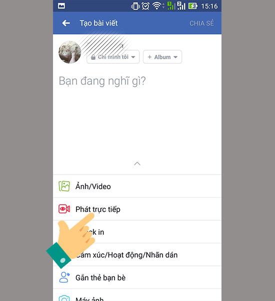 cach live stream facebook tren dien thoai 3 1 - Cách livestream facebook bằng điện thoại
