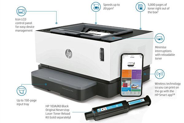 danh gia HP Neverstop 1 - HP NEVERSTOP - Dòng máy in không sử dụng hộp mực