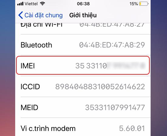 lam sao de kiem tra imei tren iphone ipad 3 1 - Làm sao để kiểm tra IMEI trên iPhone iPad