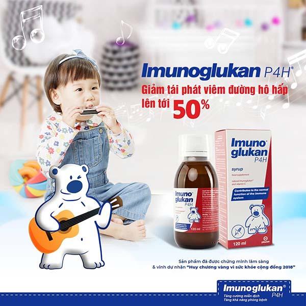 cai thien suc de khang cho tre voi siro imunoglukan P4H - Đánh giá Siro Imunoglukan P4H có tốt không?